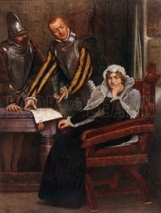 """The Abdication at Lochleven Castle of Mary Stuart, Queen of Scots"""